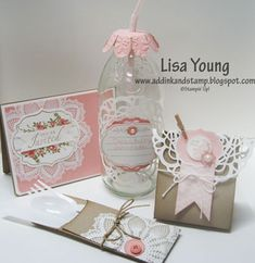 Stampin' Up!  Hello Doily  Lisa Young