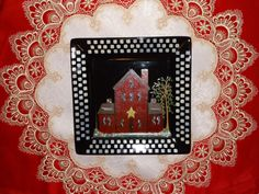 Primitive House Hand Painted Plate,, Plate Decor, Collector,,,,, Kitchen Decor,,,,, Home Decor,,,,,. $24.50, via Etsy.