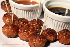 Substitute turkey for chicken; cook meatballs in small amount of sesame oil; add broccoli at end.
