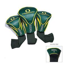 Team Golf NCAA 3 Pack of Headcovers Oregon 44494