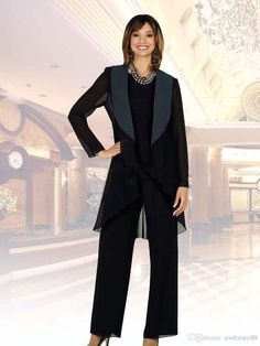 Mother Of The Bride Groom Pant Suits 2017 With Jewel Neck Long Sleeves Jacket For Mothers Formal Occasion Party Evening Dresses Three Pieces Joan Rivers Rivers Formal Dresses For Moms From Soulmate88, $109.06| Dhgate.Com