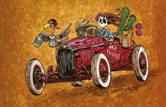 A bony broad cruises down the road in her custom hot rod. Paper Prints The 10 x 8 and 18 x 12 Hot Tamale prints are produced with archival ink on glossy paper and are perfect for those of you who pref
