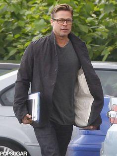 Glasses and short hair — looking good, Brad!