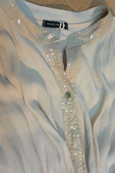 Soft crepe shirt with a twist, bit of sparkle.