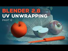 In part 6 of the Blender beginner tutorial series, we UV unwrap the apple and the knife, to make these models ready for the texturing part. Principles Of Animation, Blender Tutorial, 3d Tutorial, Blender 3d, Texture Painting, Have Time, Learning, Youtube, 3d Modeling