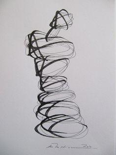 Ase Margrethe Hansen ink drawing
