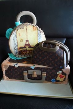 Gorgeous Paris and Louis Vuitton purse cake
