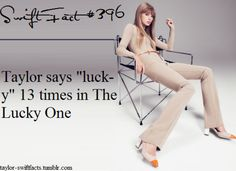 13th track, lucky 13 times, her lucky 13.