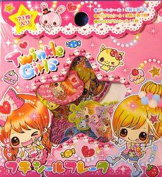 Kamio Twinkle Girls Sticker Sack | by Delfinodigrazia