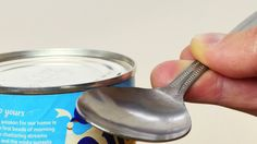 How to Open a Can of Food With a Spoon