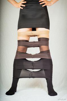 Pantyhose Tiramisu - ally, feet, layers, pantyhose, tights - More: http://www.spiltmylk.com/pantyhose-tiramisu/