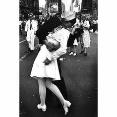 Kissing On VJ Day (War`s End Kiss) Art Print Poster