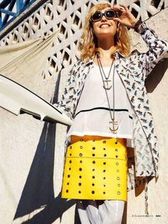 Sailor Made: Cora Keegan in Santorini by Carlotte Manaigo for Elle Italia May 2013