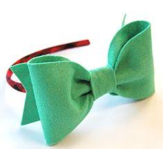 big felt bow headband.