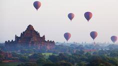 festival de balões em Mianmar