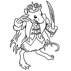 The-mouse-king and other characters of Nutcracker - Coloriage de personnages de Casse-Noisette