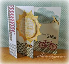 CTMH stamps fancy fold card from Rose Blossom Legacies: Dont Forget Your Retired Stamps! Scrapbook Paper Crafts, Scrapbook Cards, Scrapbooking, Fancy Fold Cards, Folded Cards, Retirement Cards, Heart Cards, Cool Cards, Creative Cards
