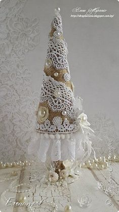 Weihnachten 45 ideas shabby chic christmas tree lace How A Hepa Air Cleaner Works Fabric Christmas Trees, Little Christmas Trees, Christmas Tree Crafts, Handmade Christmas Decorations, Noel Christmas, Pink Christmas, Homemade Christmas, Rustic Christmas, Christmas Projects