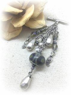 ** Interchangeable Handmade Lampwork Glass Beaded Dangle Pendant Jewelry #978D @beaddangledesign