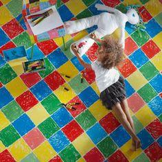 Kids Bedroom Vinyl Flooring soft colors, soft underfoot feeling and hygienic, vinyl floor is a