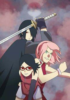Sasuke, Sakura, Sarada
