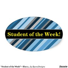 Student Praise Purple and White Striped Pattern Oval Sticker - stripes gifts cyo unique style Student Of The Week, Shades Of Purple, Sticker Design, Pastel Colors, Black Stripes, Diy, Stickers, Pattern, Student Teacher