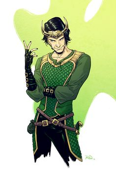 russelldauterman:  Seeing The Dark World tomorrow - here's a little Loki to get in the mood!