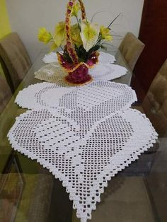 The post appeared first on Tapeten ideen. Crochet Table Runner, Crochet Tablecloth, Manta Crochet, Crochet Books, Chrochet, Filet Crochet, Doilies, Table Runners, Painted Rocks