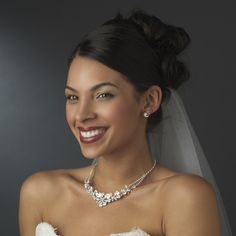 Stunning Crystal Bridal Jewelry Set StressAwayBridalShop.com $99.95 #crystal #jewelry #shop