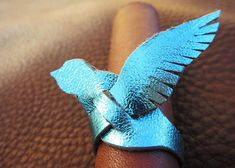 Leather Bird Ring. I own two! I want more.