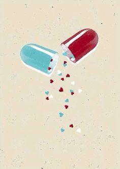 Love by Gary Neill Pharmacy Student, Pharmacy School, Pharmacy Design, Pharmacy Humor, Pharmacy Images, Drugs Art, Medical Wallpaper, Pharmacology Nursing, Medical Art