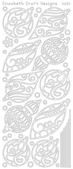 Elizabeth Craft Design Peel-off Sticker -0439b- Ornaments - Black