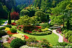 The Sunken Garden, Butchart Gardens, Victoria.