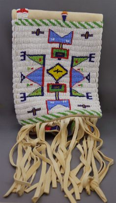 """The MOA Shop: """"Pipe Bag with Bead and Bone"""" by Ojibwe artist Donna Salo."""