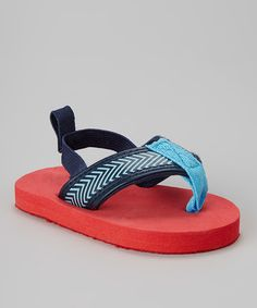 Look what I found on #zulily! Blue & Red Slingback Sandal by Rugged Bear #zulilyfinds