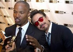 Jamie Foxx and Robert Downey Jr.