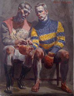 Mark Beard - 'Two Boxers' by Bruce Sargeant. Oil on canvas.