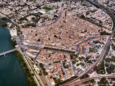Tarascon-sur-Rhône - France - aerial view