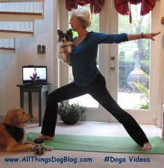 Have you had your #Doga this week? Join our Weekly Wag Bonding Doga for a new pose each Saturday at www.AllThingsDogBlog.com
