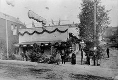 July 4, 1883: Henry and Sarah Yesler in front of their home near 1st and James. Mr. Yesler was one of the most famous and successful of Seattle's early settlers, and served as mayor in 1874-5 and 1885. More about Mr. Yesler: http://www.historylink.org/index.cfm?DisplayPage=output.cfm_id=286 Courtesy Seattle Municipal Archives, item 111170. Via Vintage Seattle on Facebook.