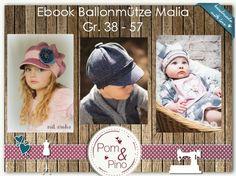 Nähanleitungen Kind - Ebook * Ballonmütze Malia * KU 38 - 57 - ein Designerstück von PomundPino bei DaWanda