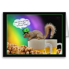 End of the Rainbow Squirrel St Patricks Day Humor Greeting Cards we are given they also recommend where is the best to buyHow to          End of the Rainbow Squirrel St Patricks Day Humor Greeting Cards lowest price Fast Shipping and save your money Now!!...