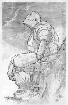 Iron Giant illustration by Patrick Gleason.