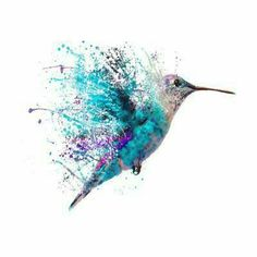 Watercolor Hummingbird, Watercolor Bird, Hummingbird Art, Watercolor Ideas, Hummingbird Tattoo Black, Splash Watercolor, Tatoo Art, Body Art Tattoos, Tatoos