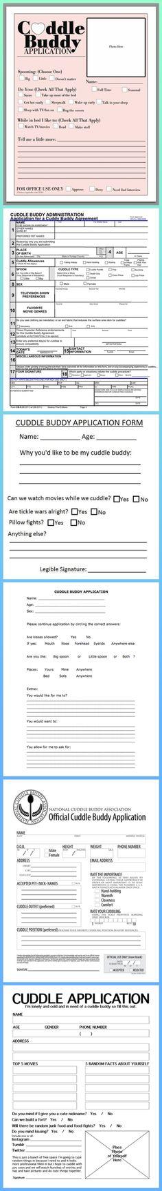 Cuddle Buddy Application Forms
