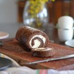 A gorgeous fluffy Gluten Free Chocolate Swiss Roll smothered in clouds of cream, can it get any better? Because its super easy to make! Chocolate Swiss Roll, Gluten Free Chocolate, Pavlova, Tray Bakes, Cocoa, Icing, Rolls, Cakes, Cool Stuff
