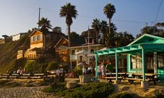"""California's top 10 beach hotels and places to stay on a budget""- Cyrstal Cove State Park Historic District, Corona del Mar, Newport Beach, California"