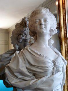 Buste de Marie-Antoinette - Salle de Billard, Petit Trianon, Versailles - photo Marie J