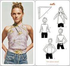 DIY: Como convertir tus chales/pañuelos en ropa