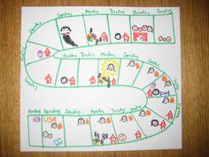 A DIY child calendar - how many days before . Aphasia, How Many Days, Speech And Language, Calendar, Bullet Journal, Rainbow, Shit Happens, Children, Homeschooling